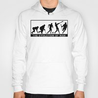 lacrosse Hoodies featuring Lacrosse Evolution Of Man by YouGotThat.com