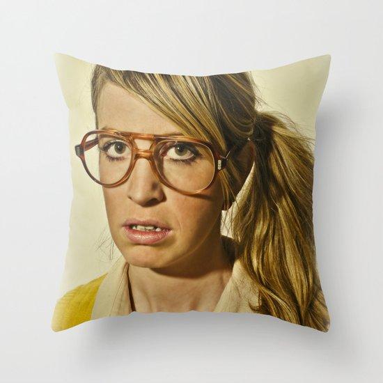 i.am.nerd. :: lizzy c. Throw Pillow