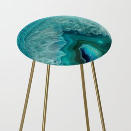 Teal Agate Counter Stool