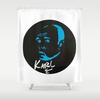 karl Shower Curtains featuring Karl Pilkington  by All Surfaces Design