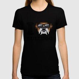 I Love Bulldog modern v1 T-shirt