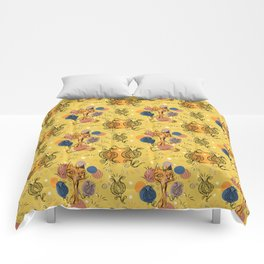 yellow chat Comforters
