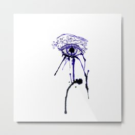 Ink Abstractive Eye Metal Print