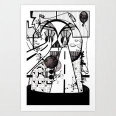 LEFT TO DECAY Art Print