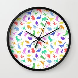 Fun Dinosaur Pattern Wall Clock