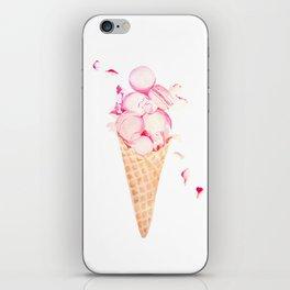 Pink Macaroons Rose Ice Cream Fashion Stylish Minimalism Food iPhone Skin