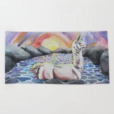 Llama Ness Monster Beach Towel