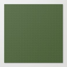 Knitted spring colors - Pantone Kale Canvas Print
