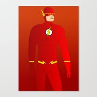 the flash Canvas Prints featuring Flash by pablosiano