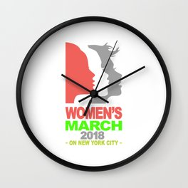 women's march january 2018 Wall Clock