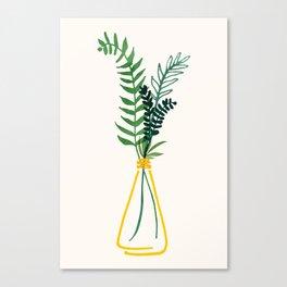 Simple Modern Greenery II / Watercolor Botanical Canvas Print