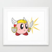 kirby Framed Art Prints featuring Valkyrie Kirby by Mel W.
