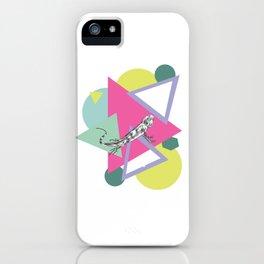 Math Pattern And Iguana iPhone Case