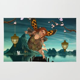 Cute flying fairy Rug