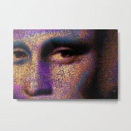 Mona Lisa Eyes 1 Metal Print