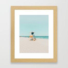 Aussie lifeguard Framed Art Print
