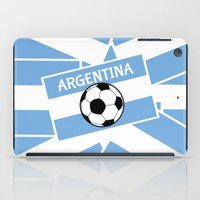 argentina iPad Cases featuring Argentina Football by mailboxdisco