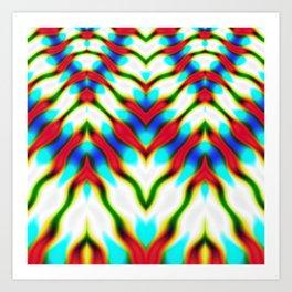 Hippie Rainbows   Colourful Hippie Love Art Print