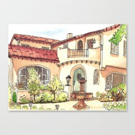 California Residence Canvas Print