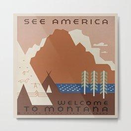 Vintage poster - Montana Metal Print