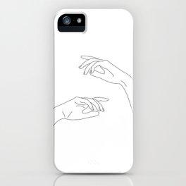 Hands line drawing - Bel iPhone Case
