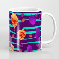 psychadelic Mugs featuring Psychadelic Natural Pattern #3 by Andrej Balaz