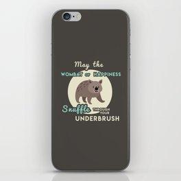 Wombat of Happiness iPhone Skin