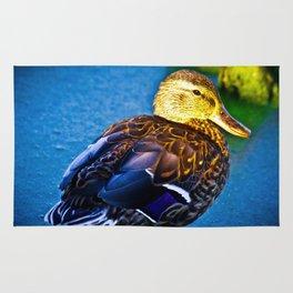 Mallard Duck by the Pond Rug