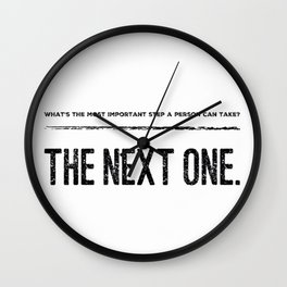 The Next Step Wall Clock