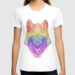Zentangle Inspire Art- Rainbow Wolf T-shirt