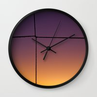 gift card Wall Clocks featuring Gift by Moiz Merchant
