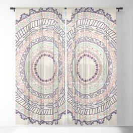 Aztec ornament pattern Sheer Curtain