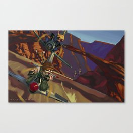 Airbike Dogfight Canvas Print