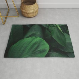 Green Nature Deep Leaves Rug
