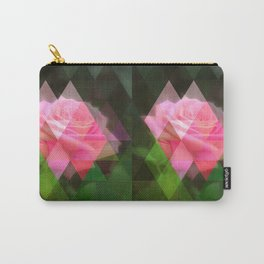 Pink Roses in Anzures 3 Art Triangles 1 Carry-All Pouch