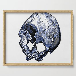 Human Skull Serving Tray