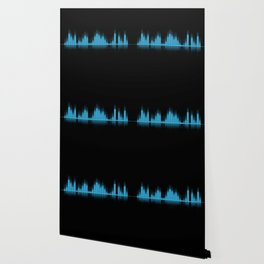 Cool Blue Graphic Equalizer Music on black Wallpaper