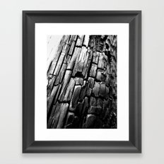 Charred Framed Art Print
