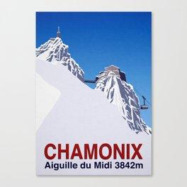 Chamonix ski Canvas Print