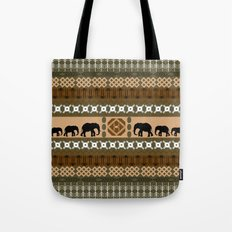 African Elephant Pattern Tote Bag
