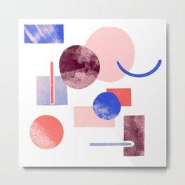 Abstract minimalist shapes Metal Print