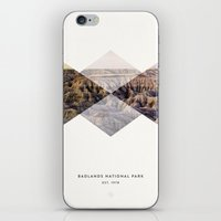 parks iPhone & iPod Skins featuring National Parks: Badlands by Roadtrippers