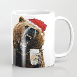 Grizzly Mornings Christmas Coffee Mug