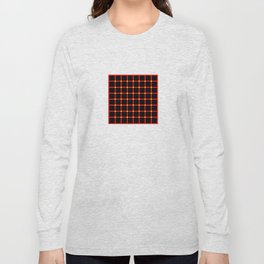 Composition of red vertical and horizontal lines with moving dots illusion Long Sleeve T-shirt