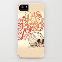 Hamlet Skull iPhone Case