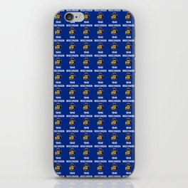 flag of winconsin 2-america,usa,midwest,great lakes, Wisconsinite, Badger, Dairyland, iPhone Skin