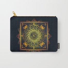 Golden Filigree Mandala Carry-All Pouch