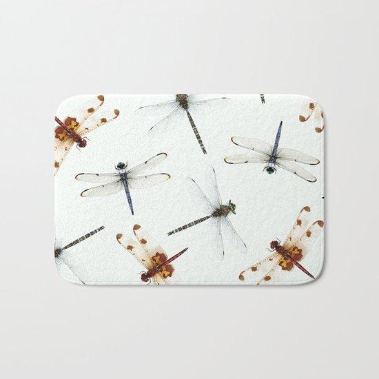 Dragonfly Pattern Bath Mat