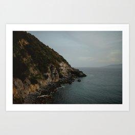 tuscany coast Art Print