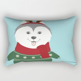Happy Pet in Ugly Christmas Sweaters Rectangular Pillow